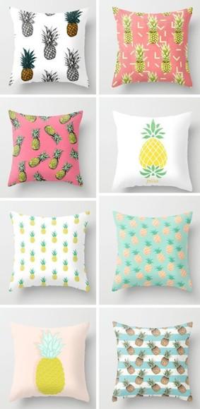 phone case iphone case yellow pineapple print pillow green fruit home decor bedding fun diy