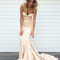Simple light champagne mermaid long prom dress, evening dress - 24prom