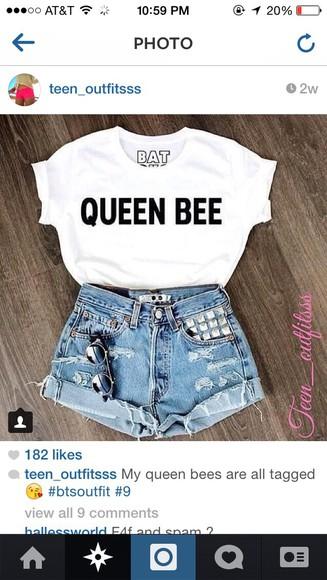 queen t-shirt queen bee bee