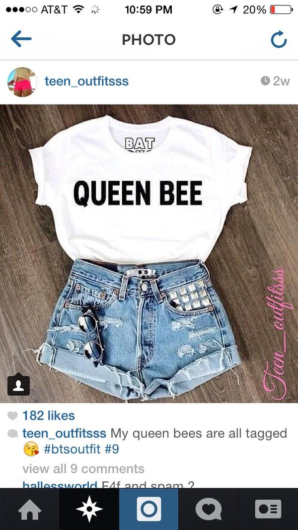 queen bee bee queen t-shirt batoko www.batoko.com