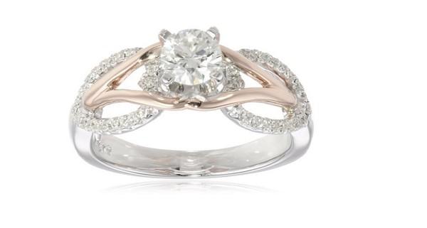 Jewels: Engagement Ring, Gold, Silver Pentagram, Diamond