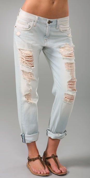 Current Elliott 'Long Boyfriend' Beat Up Wash Destroy Ripped Jeans Sz 28 | eBay