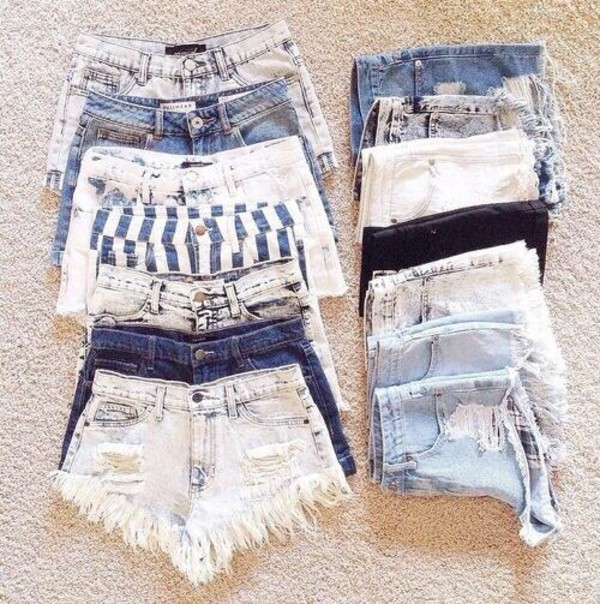 High waisted shorts jeans shorts denim shorts distressed denim shorts