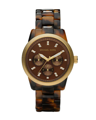Michael Kors |  Tortoise Jet Set Watch - CUSP