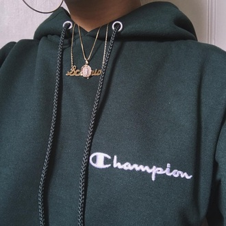 sweater champion hoodie green champion
