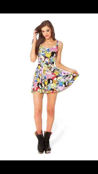 dress adventure time cute dress cute red yellow cartoon