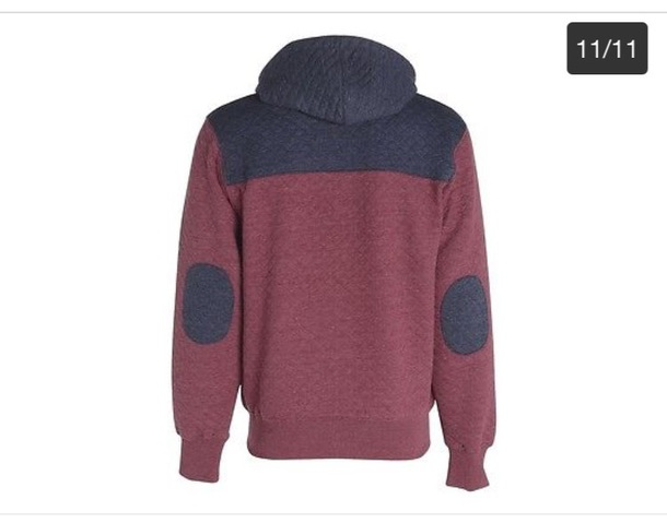 sweater quilted hoody