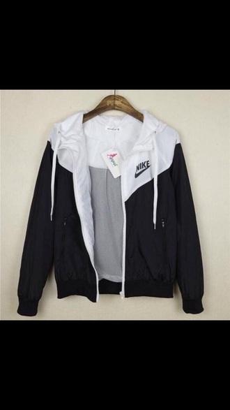 jacket black and white nike nike jacket asos