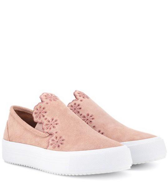 See by Chloe suede sneakers sneakers suede pink shoes