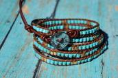 jewels,fleurdesignz,boho,wrap bracelet,layered bracelet