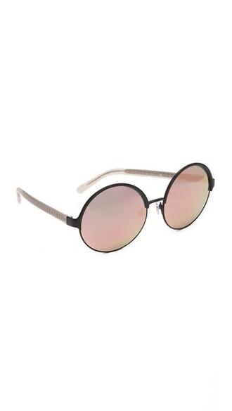 matte sunglasses mirrored sunglasses black peach salmon matte black
