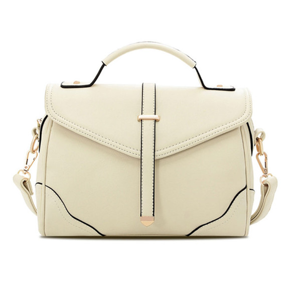 bag handbag fashion women girl style white shoulder bag