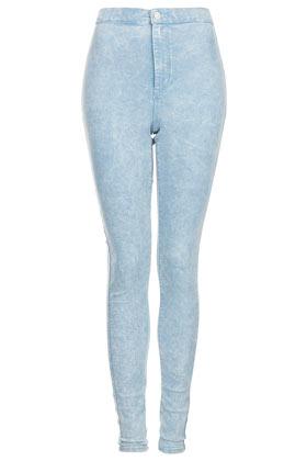 MOTO Acid Blue Joni Jeans - Topshop USA