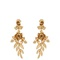 Gold-plated rose-drop clip-on earrings | oscar de la renta | matchesfashion.com us