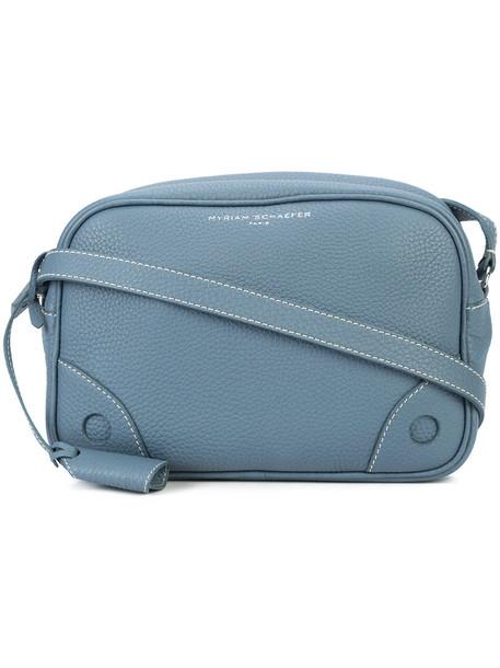 cross women bag leather blue