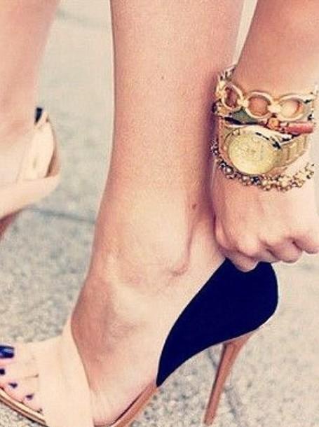 e2d015affaa9 shoes blue high heels sandal heels beige