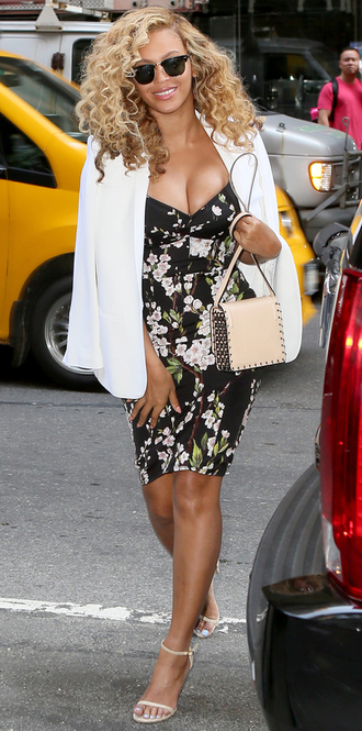 dress floral floral dress flowers summer dress beyonce sandals natural hair
