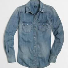 J.Crew Factory Two-Pocket Denim Shirt