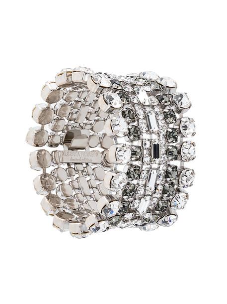 Alberta Ferretti women layered grey metallic jewels