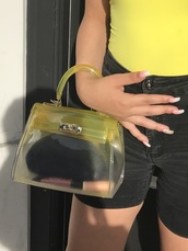 bag,yellow,summer,ombre
