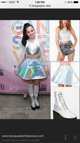 skirt holographic kawaii kawaii grunge fairy kei shoes