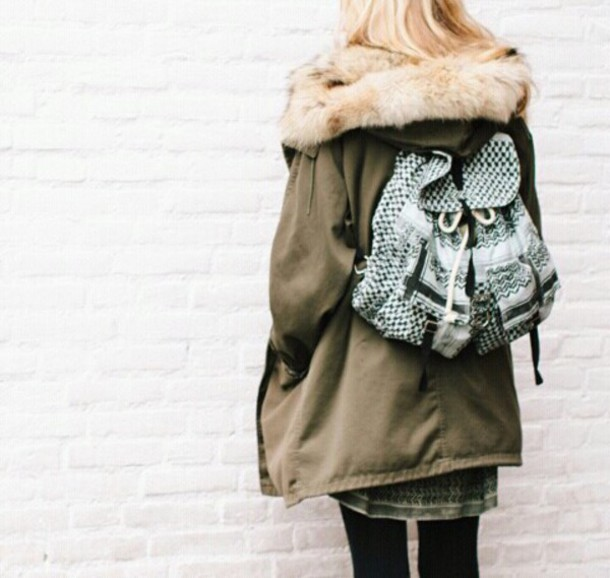 coat fur parka parka