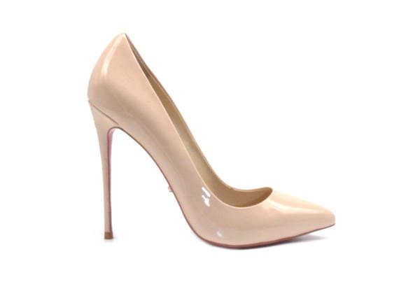 inch Heels - Nude Pointed High Heels