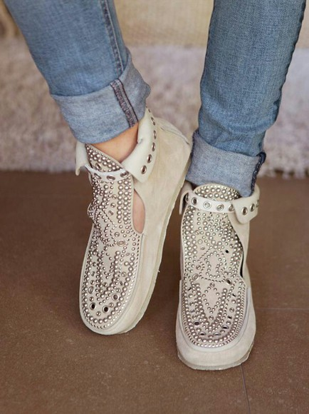 shoes ashley tisdale tan studded shoes bagatt