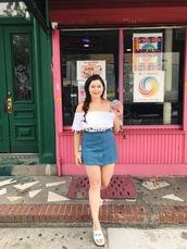 noelles favorite things,blogger,top,skirt,shoes