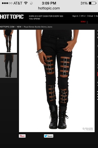 jeans hot topic skinny jeans buckles