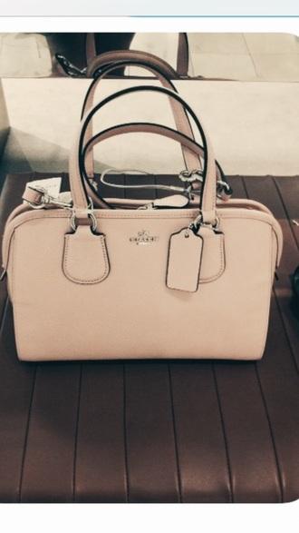 bag light pink coach purse