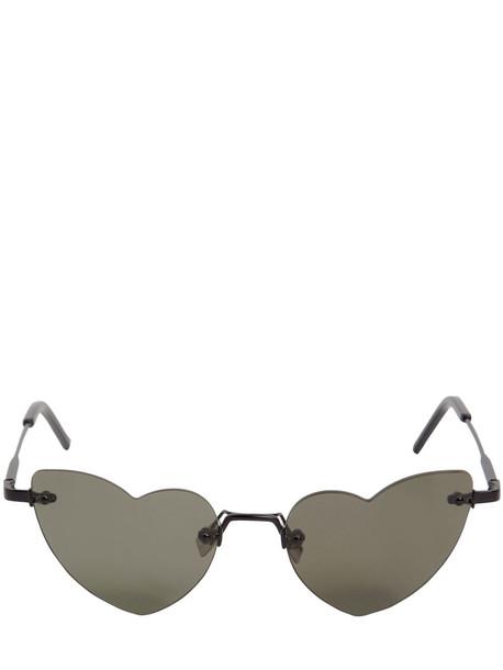 SAINT LAURENT New Wave Loulou Sunglasses in black