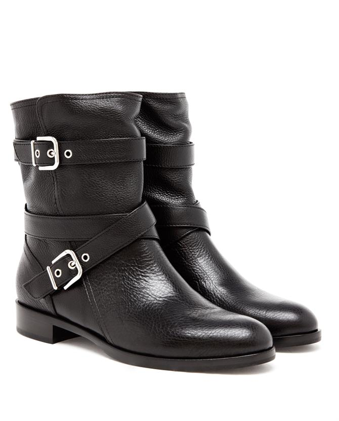 GIANVITO ROSSI | Grained Leather Biker Boot | Browns fashion & designer clothes & clothing