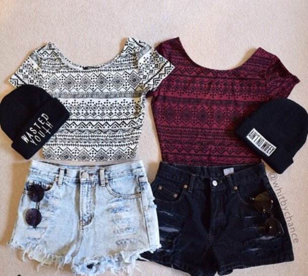 red wine aztec shirt t-shirt crop tops top cardigan hat shoes shorts colorful vintage grunge indie