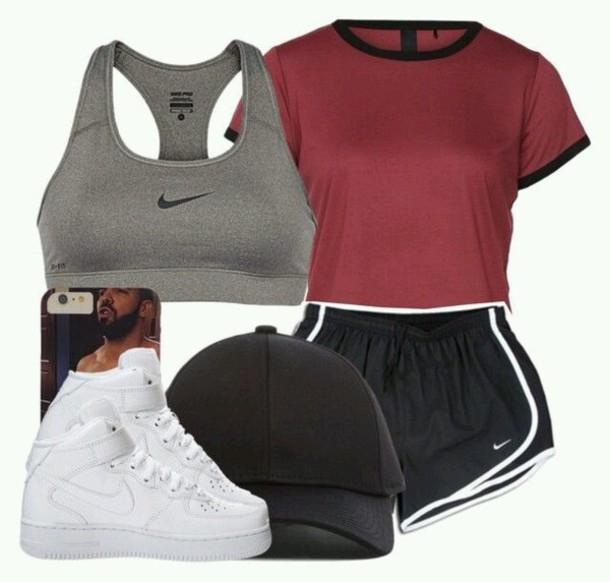 shorts, nike, workout clothing, nike