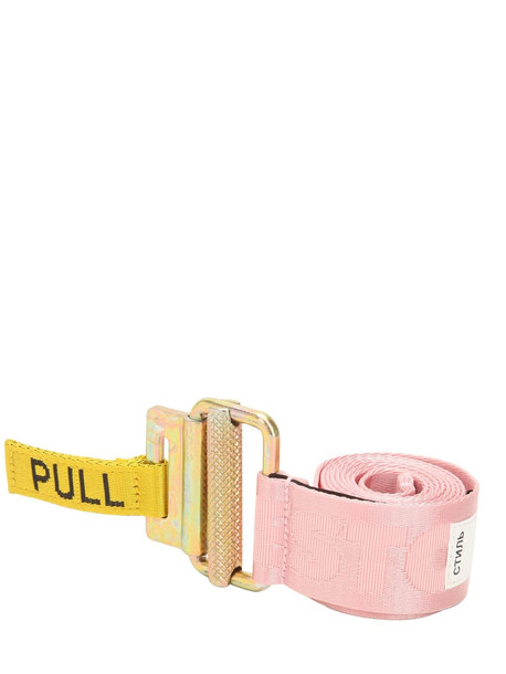 jacquard belt pink