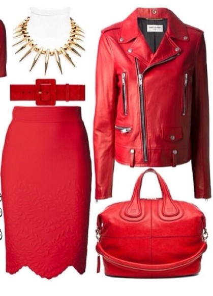 yves saint laurent bag givenchy alexander mcqueen red