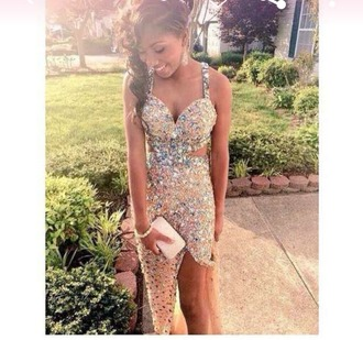dress sparkly prom prom dress prom gown gold