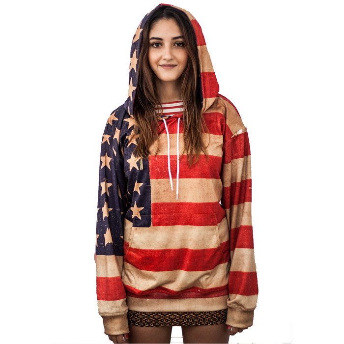 Vintage usa flag hoodie – yo vogue clothing