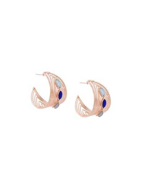 metal women earrings hoop earrings gold grey metallic jewels