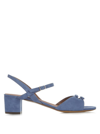bow sandals suede light blue light blue shoes