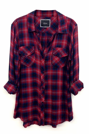 Rails carmen plaid shirt in raspberry/navy