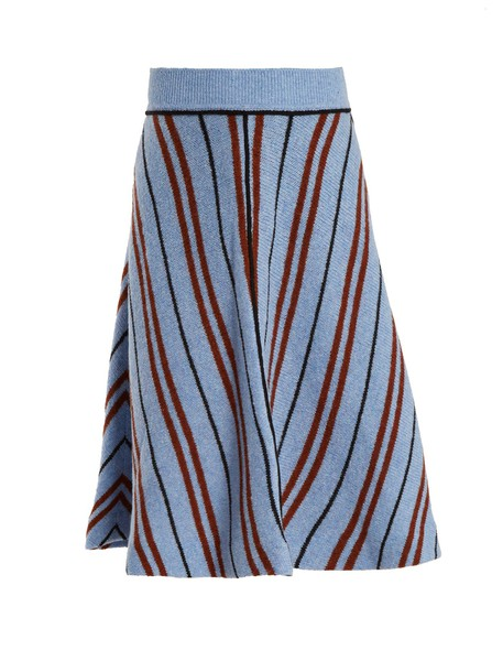 Miu Miu skirt wool knit chevron blue