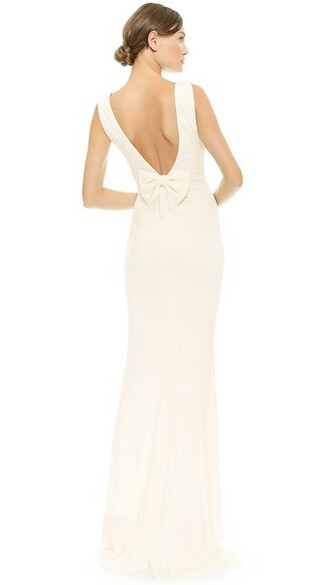 gown bow back bow back dress