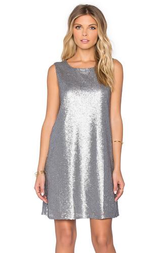 dress sequin dress metallic silver