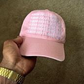 hat,hotline bling,drake,ovoxo,tumblr,urban,vintage,pink,pastel,arial,snapback,baseball cap,cap,hotlineblinghat,1-800-hotline bling pink  hat,drake clothing,1 800 hotline bling
