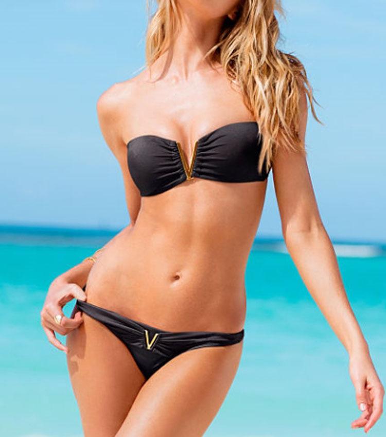 New arrival sexy solid color triangle bikini split hot spring swimwear bikini-inBikinis Set from Apparel & Accessories on Aliexpress.com