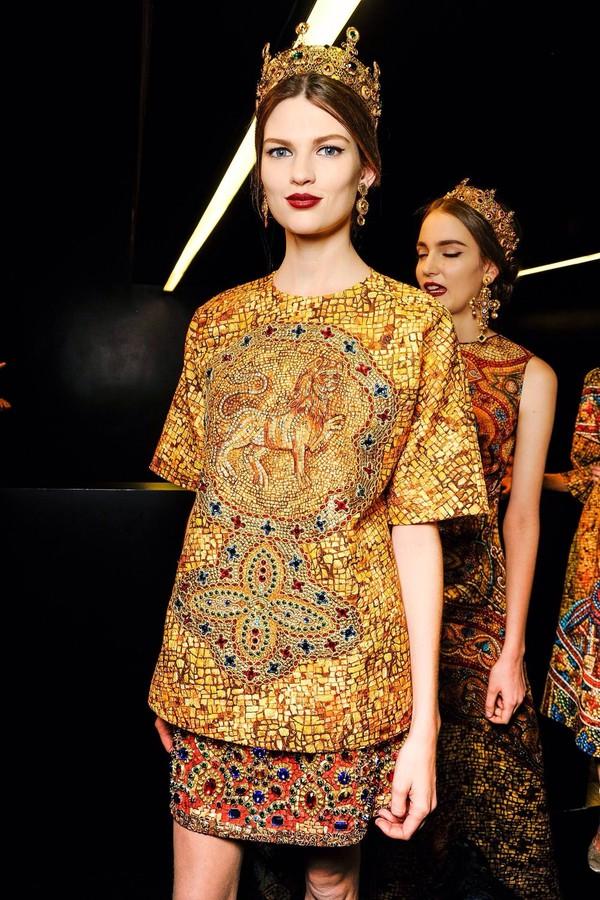 dress gold stones