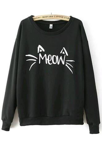 cats meow pullover sweatshirt sweatershirt