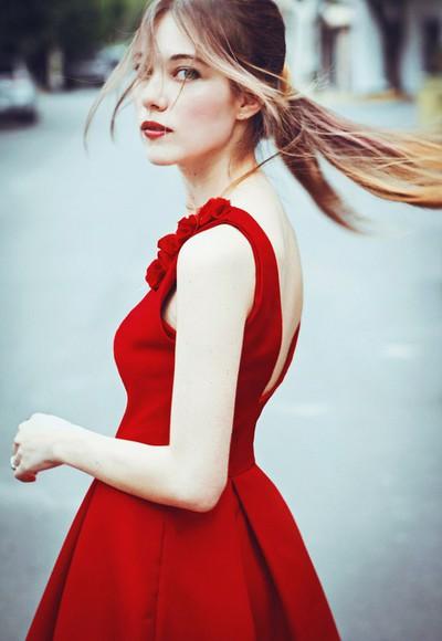 beauty prom dress nice lovely dress dress flower red dress classy